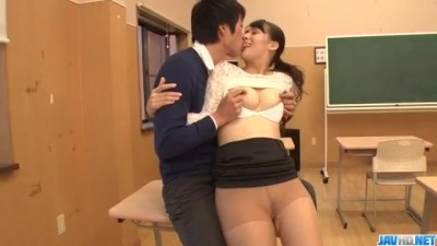 JavHD -Japanese Teacher Yui Oba Risky Sex with Stundent