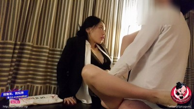 June Liu 刘玥/SpicyGum - Chinese Shy Manager Punishes her Employee for being Late