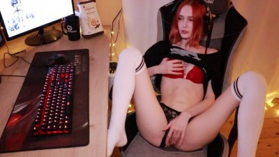 Young Sweet Gamer Teen Fucked Rough while Playing a Video Game