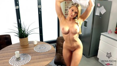 Blonde Big Titted Teen Gets Fucked Hard on the Table
