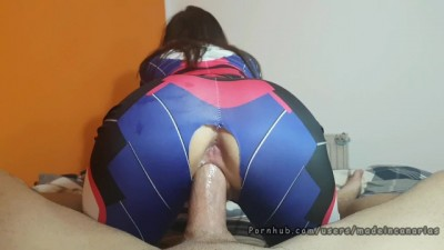 Young PAWG Overwatch Cosplay Girl Riding Cock! Madeincanarias