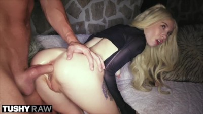 Horny Blonde Girl Took Huge Cock In Her Tight Ass