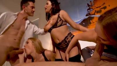 Three Horny Women Around One Man
