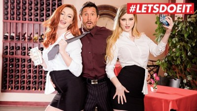 LETSDOEIT - Two Slutty Secretaries who BLACKMAILED the Boss