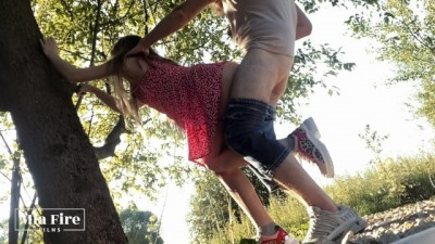 Teen Girl Cheating Risky Fucked her in the Park - Mia Fire
