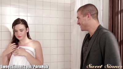 Sweet Sinner - Hot Stepsis Passion in the Shower Hard Sex