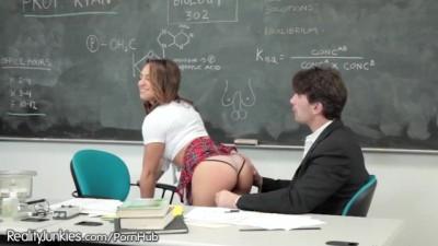 Slutty Teen Chick Sara Luvv Spanked and Plowed by Teacher