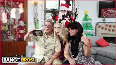 BANGBROS - Horny Blonde Babe Anastasia Knight Cheating Risky Fucked by Santa Claus