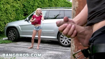 BANGBROS - Stalking Beauty Slut Teen Kenzie Reeves and Giving her some Rough Fast Sex