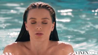 VIXEN Beauty Sexy Brunette Lana Rhoades Has Sex With Her Boss