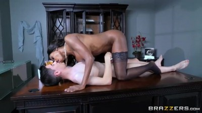 Curvy Ebony Diamond Jackson wants Big White Cock - Brazzers