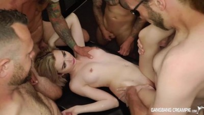 Moments Of Painful Group Sex Of Blonde Girl