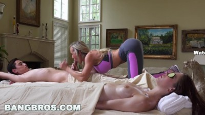 BANGBROS - Blonde MILF Brandi Love Secretly Fucks with her Daughter's BF
