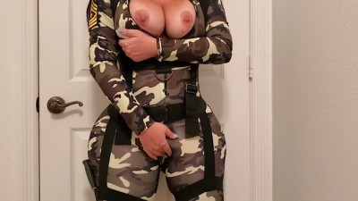 PAWG Slut Female Soldier.. She Has To Endure It For Her Army