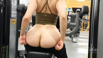 Sensual Risky Fucking In a Public Gym! EllaKai