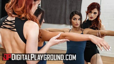 Digital Playground - Two Lesbian Ballerinas Eating and Licking Pussy after workout