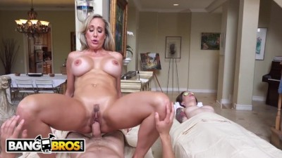 BANGBROS - Hot Sexy MILF Masseuse Brandi Love Seduces Young Boy