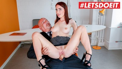 LETSDOEIT - Slutty Teen German Secretary Gets Boss's Cock