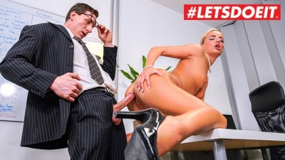 LETSDOEIT - Blonde Horny Secretary Caught Masturbating by her Boss