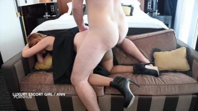 Blonde Babe Worship Cock! HARD ANAL POV