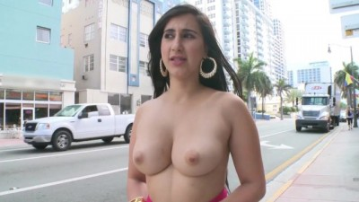 BANGBROS - Curvy Shameless Latina Valerie Kay Showing off her Body in Public