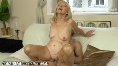21Sextreme - Horny Granny Rides Young Studs Throbbing Big Cock
