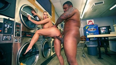 FILF - Blonde MILF Chick Katie Morgan Takes Multiple Loads at the Laundromat