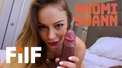 FILF - Horny Lonely Stepdaughter Naomi Swann wants Stepdad to Give her her First Intense Orgasm