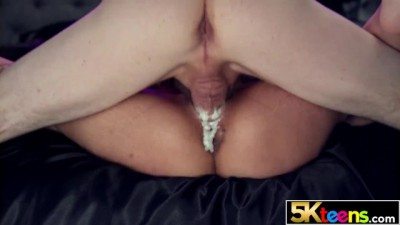 5KTEENS - Cute Brunette Slut Harmony wonder Drips Cum from her Filled up Tight Pussy