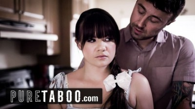 PURE TABOO Innocent Cute Step Daughter is Jealous of Mom's new Boyfriend