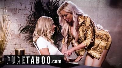 PURE TABOO Busty Hottie Chick Emma Hix Seduces Egomaniac MILF Nina Elle