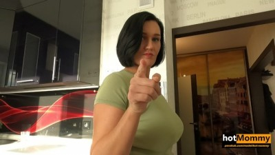 Big Tits Busty MILF Step Mom only tried to make her Step Son Study