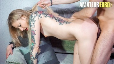 SexTapeGermany - German Couple Sensual Hot SEX for the first Time on Camera - LETSDOEIT