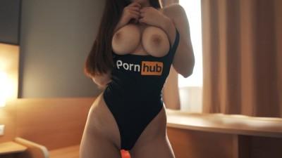 Fuck me in my new Pornhub Bodysuit! Beauty Amateur Babe Diana Daniels