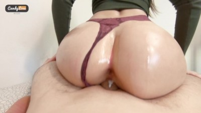 Wonderfull Curvy Slut Gets Creampie - Oiled Big Ass Cowgirl & Doggystyle POV ASMR