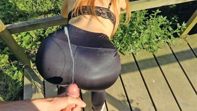 Risky Gorgeous Public Cumshot Compilation - Russian Teen LucaXMia