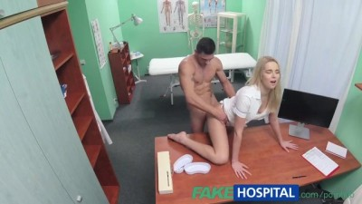 FakeHospital Beauty Hottie Nurse Eases Pressure in Studs Balls
