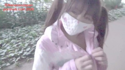 Sweet Japanese NANA Takes off her Coat and Masturbates in a Outdoor