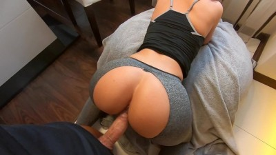 Quicky Fuck and Cum with Curvy Sweet College Girl