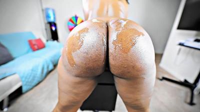 Sexy BBW MILF Ass Covered in his White Cum (4K)