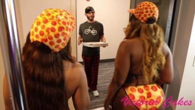 Cock-Hugry Curvy Pizza Sluts