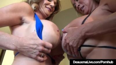 Busty Mature Cougars Deauxma & Minka Lesbian Fuck!