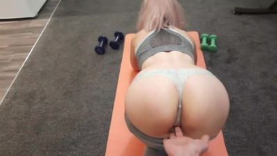 My Sexy Beauty Fit Roommate let me Fuck her after her Yoga Session!