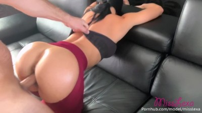 He Ripped my Yoga Pants before Fucking me Hard and Cum my Big Tits! Misslexa