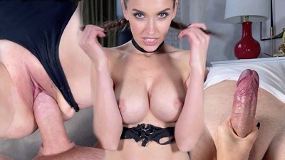 Beauty Curvy Babe Jumped on the Dick and made a Sensual Blowjob | LuxuryGirl