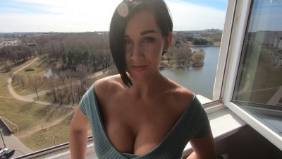 Busty Stepmom takes my Hard Cock - Close-up POV
