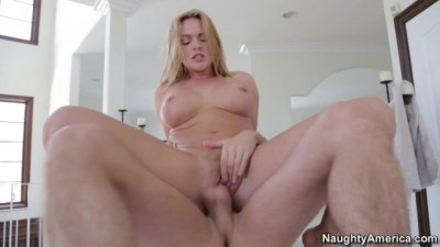 Naughty America - Big Tits Masseuse Krissy Lynn Rubs wants James Deen's Cock