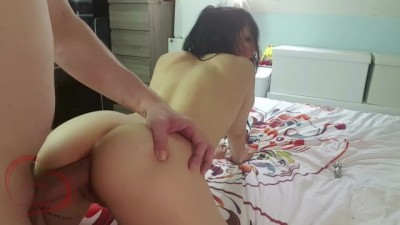 Petite Hot French GF Amateur Fucked like a Bitch in her Ass and get Cumshot on It!