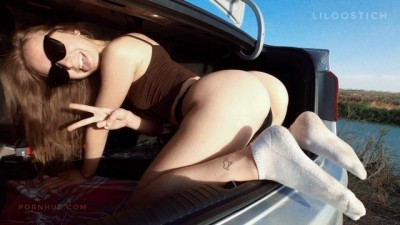 STUCK FUCK IN CAR: SORRY, STEPSISTER, YOU'RE TRAPPED! ❤️