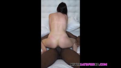 Amateur Skinny White Teen Cums on Black Cock Cuck Talks ( NEVERSATISFIEDXO )